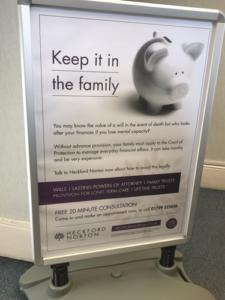 offline marketing; poster advertising, Heckford Norton